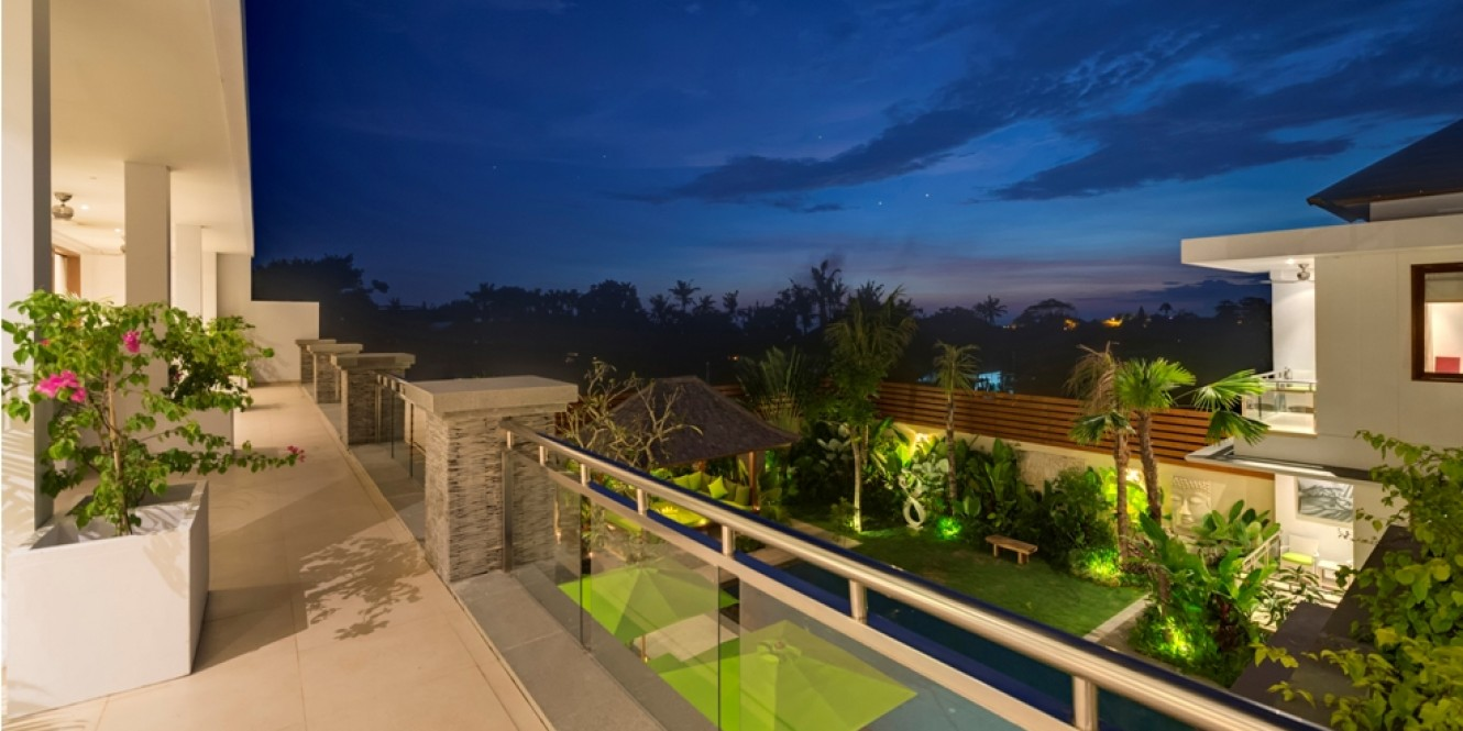 evening terrace view