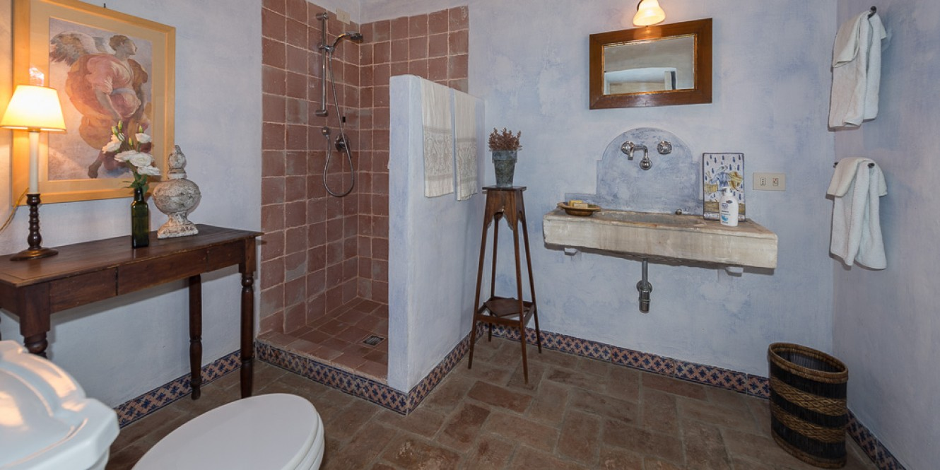 casale olivo ground floor bathroom near living room